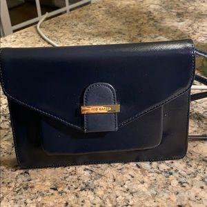 Ted Baker pocket book clutch. Navy blue.